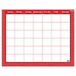 T 27024 POLKA DOTS RED WIPE OFF CALENDAR