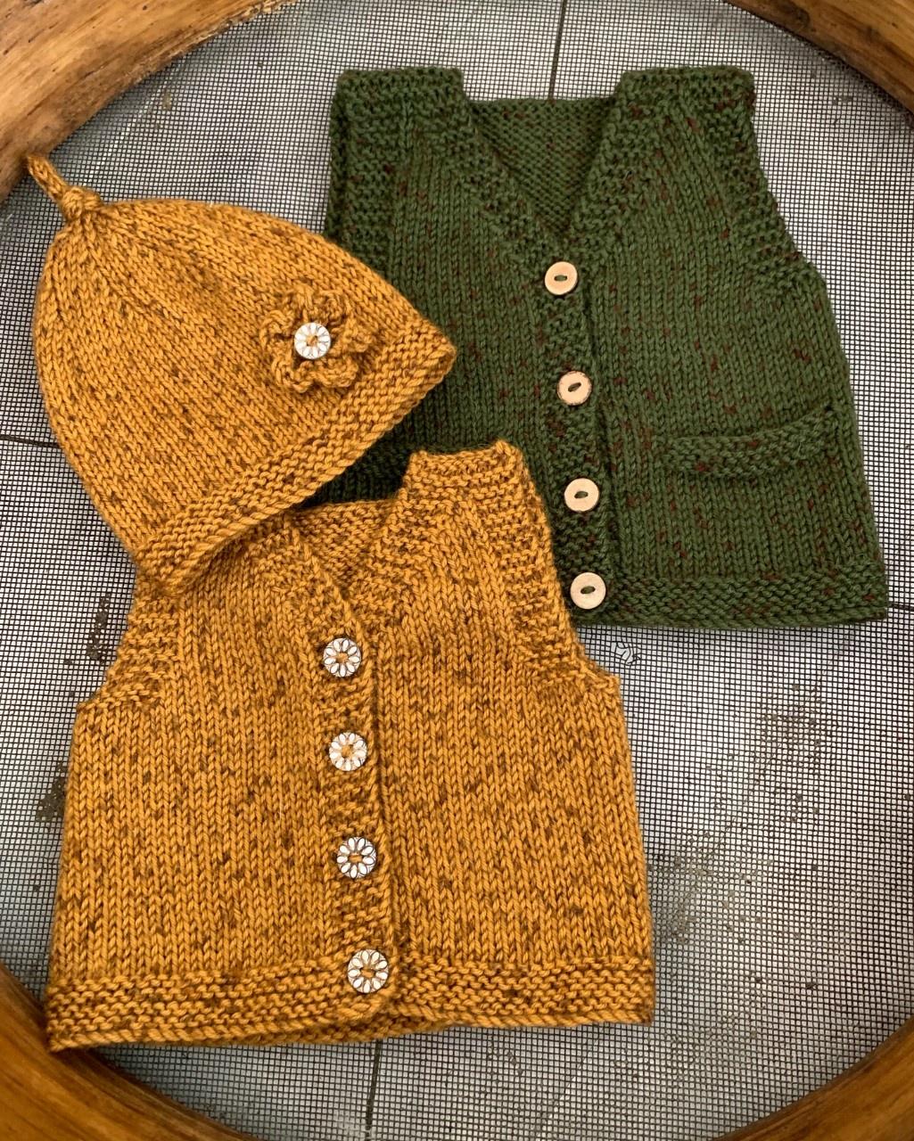 Ava & Archie Vintage Vest & Hat