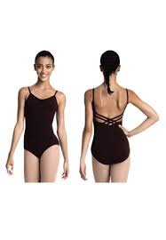Capezio Adult V-Neck Camisole with Criss Cross Back Leotard (CC102)