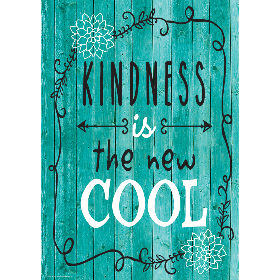 TCR 7412 KINDNESS IS THE NEW COOL POSITIVE POSTER