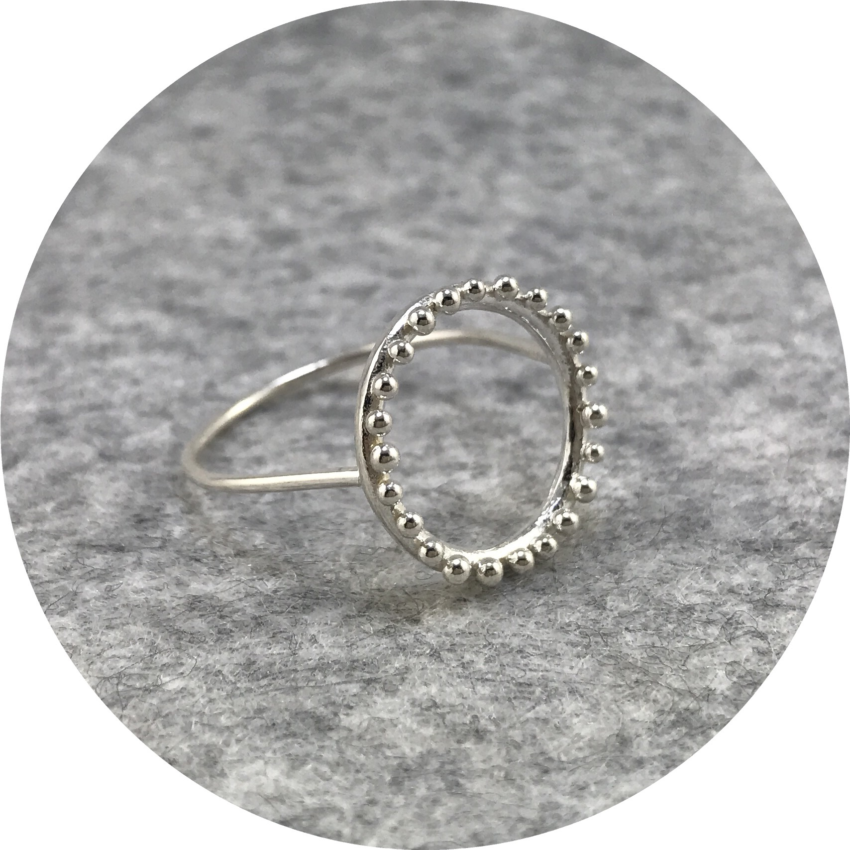 Abby Seymour- Cloud Ring. Sterling silver, size Q1/2.