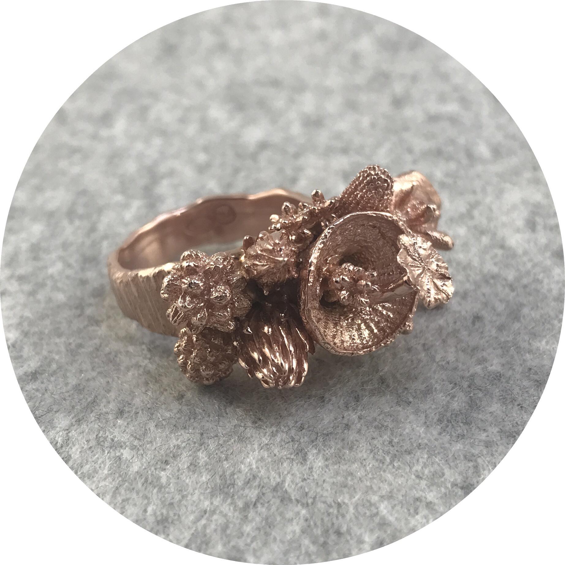 Manuela Igreja - Enchanted Forest Ring in Rose Gold Plated Sterling Silver