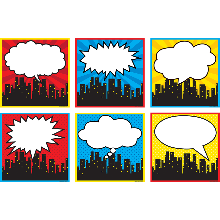 X TCR 5832 SUPERHERO CITYSCAPE LARGE CUTOUTS