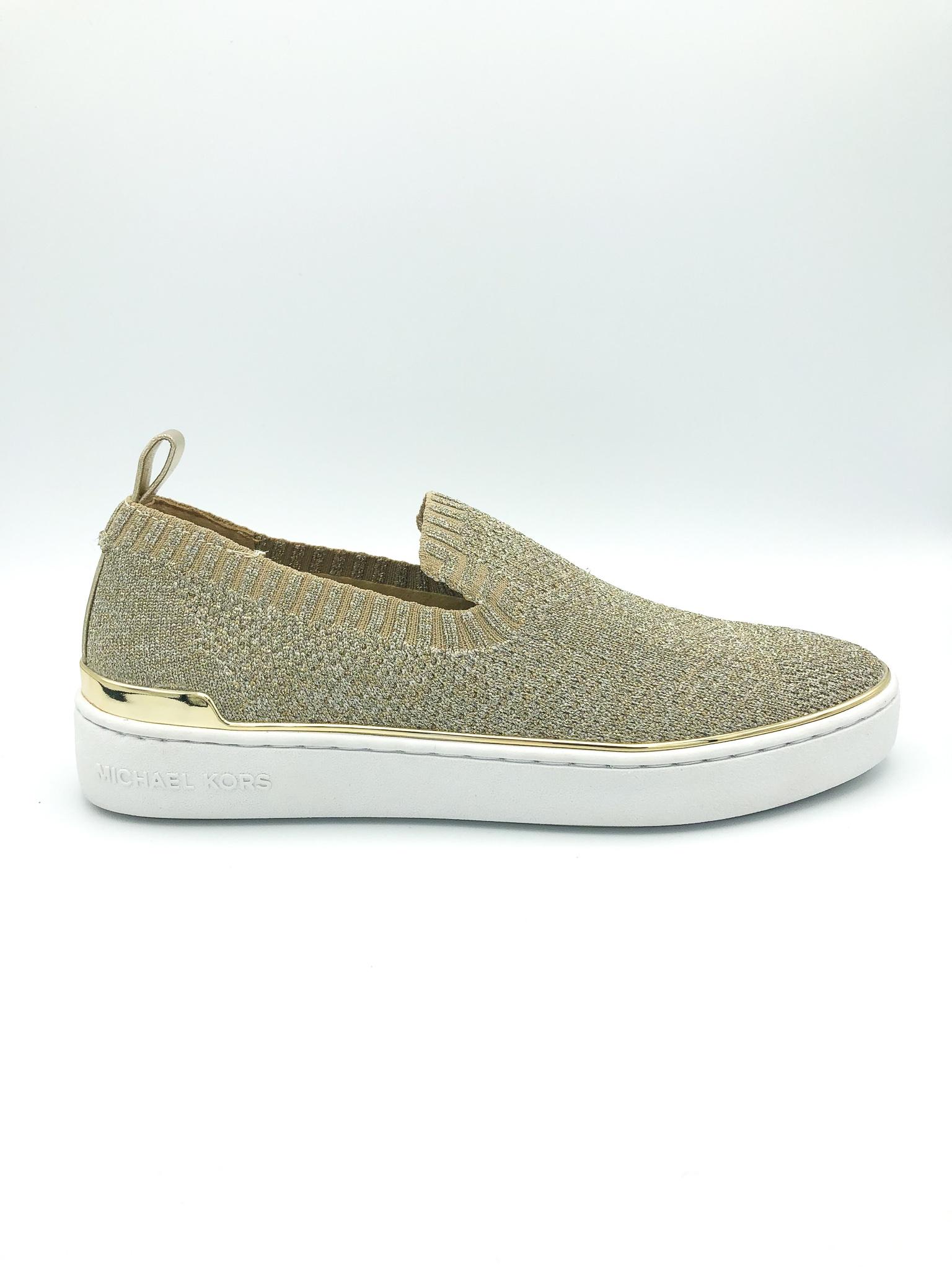 a38ceb5d1c5438 MICHAEL KORS - SKYLER SLIP ON IN SILVER/GOLD - the Urban Shoe Myth