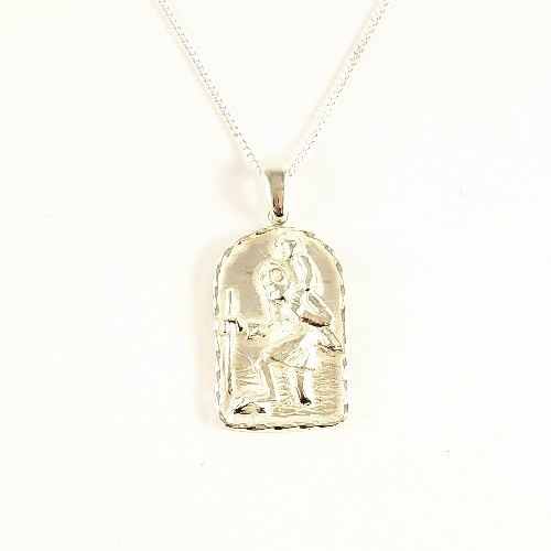 Sterling silver st christopher pendant the square gift store ltd sterling silver st christopher pendant mozeypictures Gallery