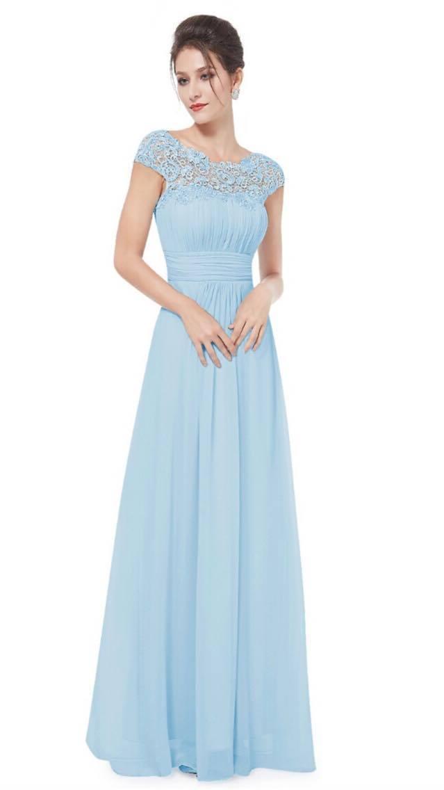 Powder blue bridesmaids dresses - Stevie Coleman Clothing