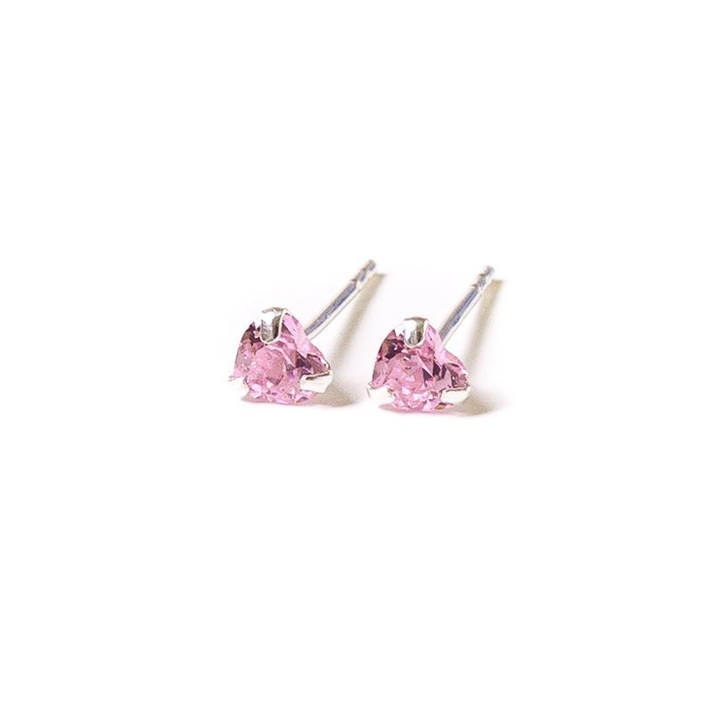 Lauren Hinkley Pink Crystal Heart Earrings with Box