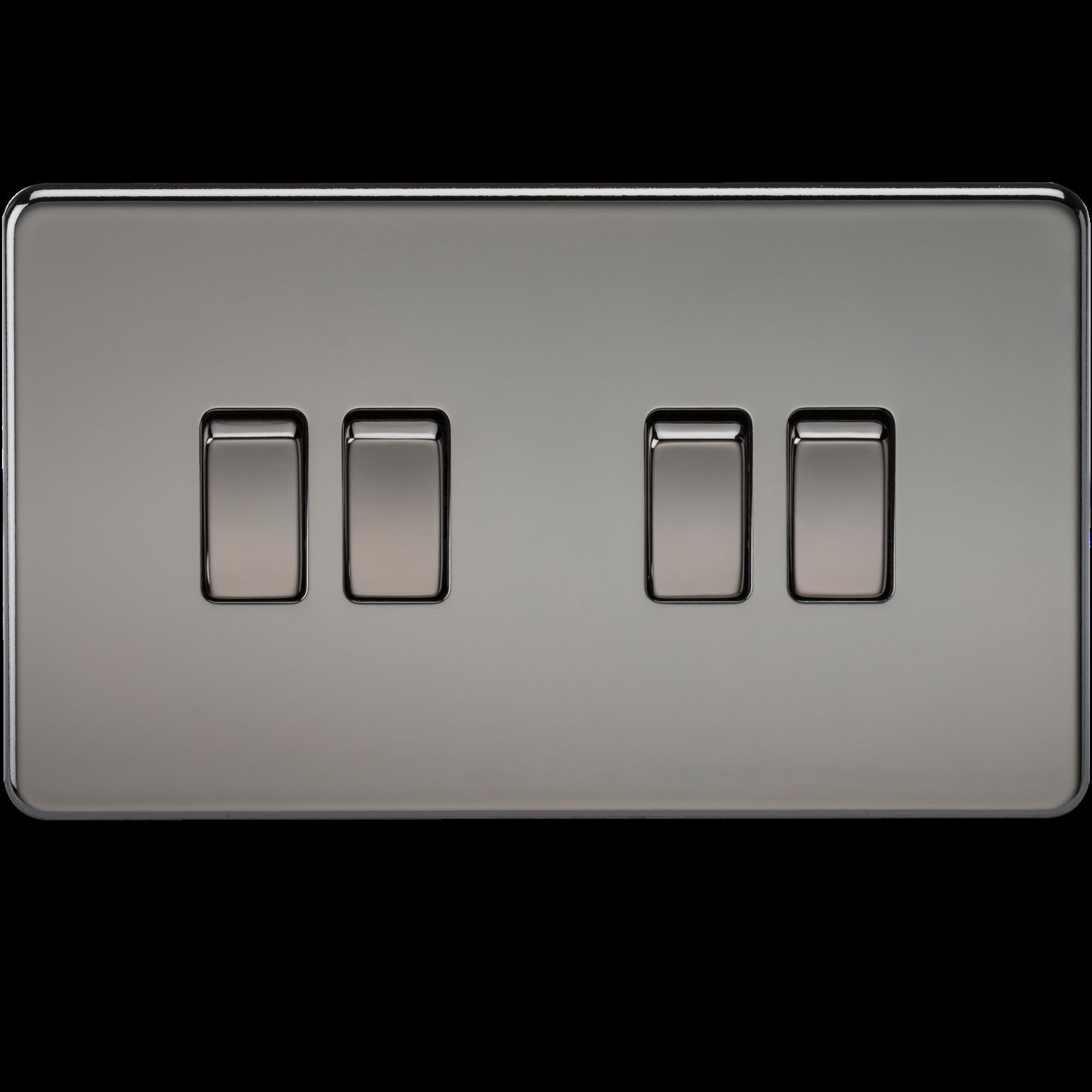 Screwless 10a 4g 2 Way Switch Black Nickel Wimbledon Lighting For Light