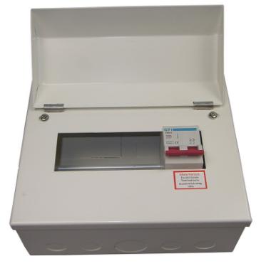 8 Way 100A Metal Clad Distribution Board