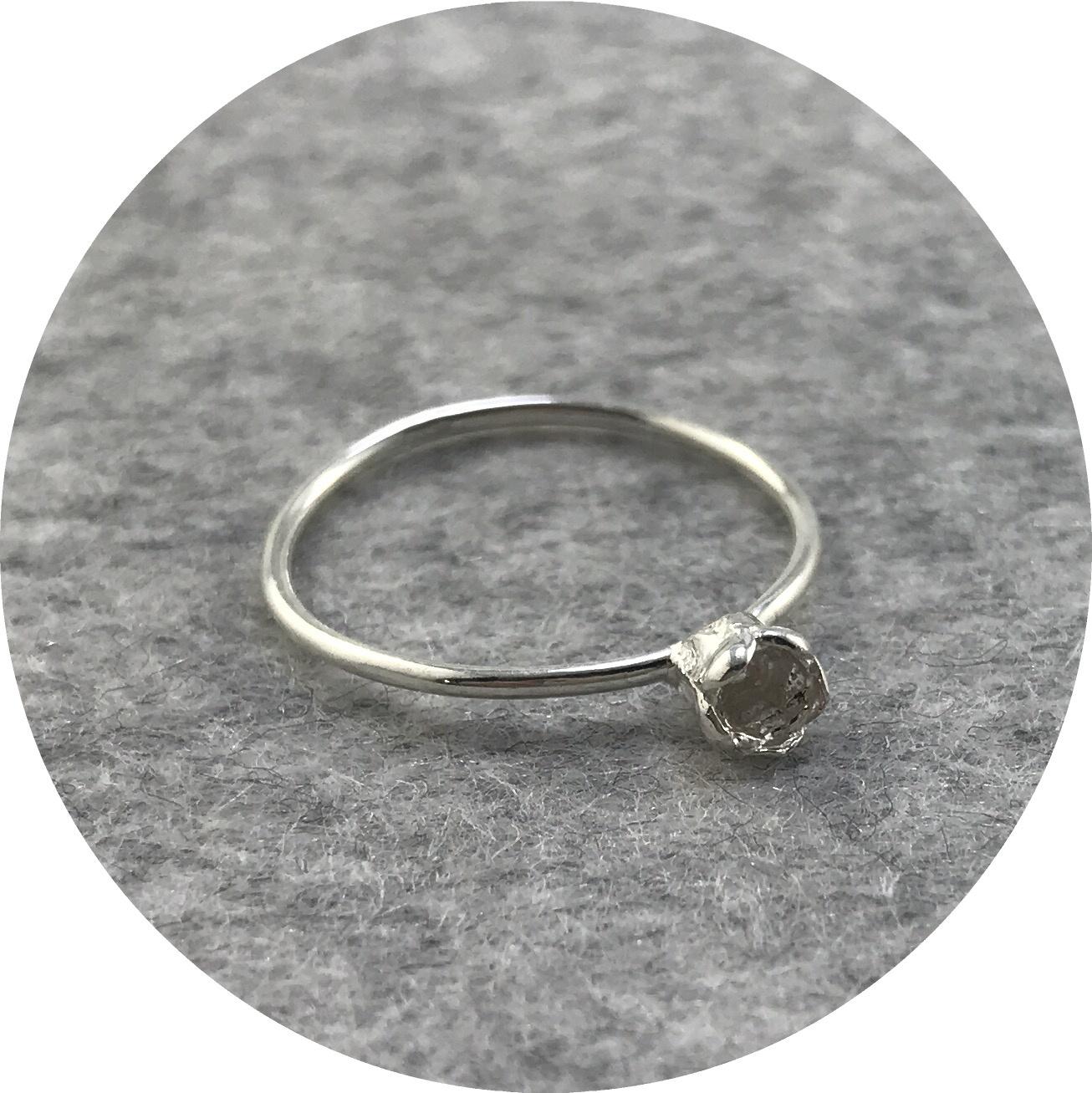 Abby Seymour- Melaleuca pod ring. Sterling silver. size K1/2