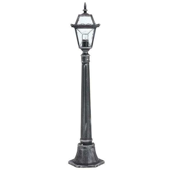 Riverdale bollard IP44 60W floor - black brushed silver