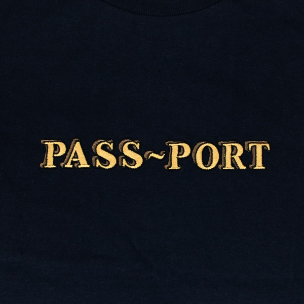Pass~Port Solid Bar Tshirt Navy