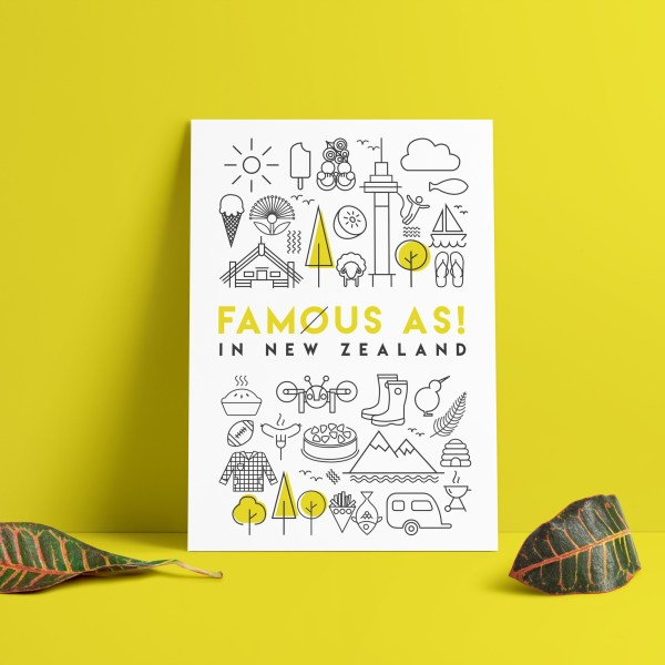 D&Y  FAMOUS AS ART PRINT A3