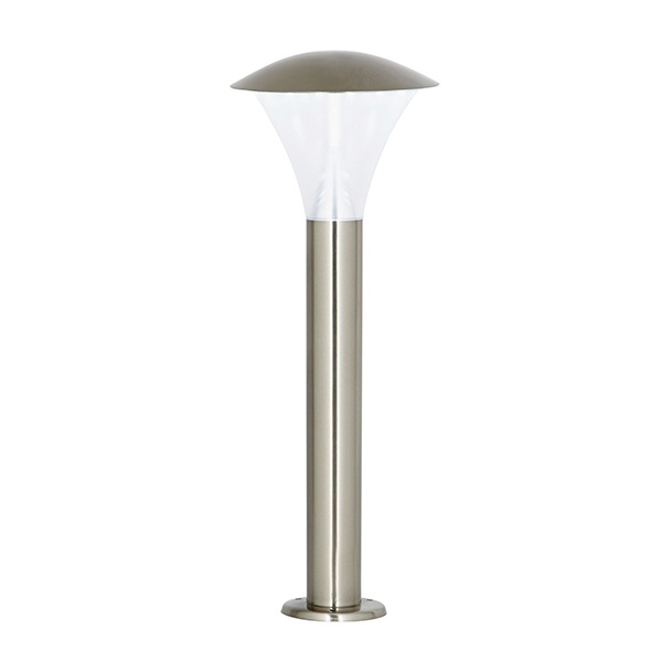 Francis post IP44 6W daylight white floor - brushed stainless steel