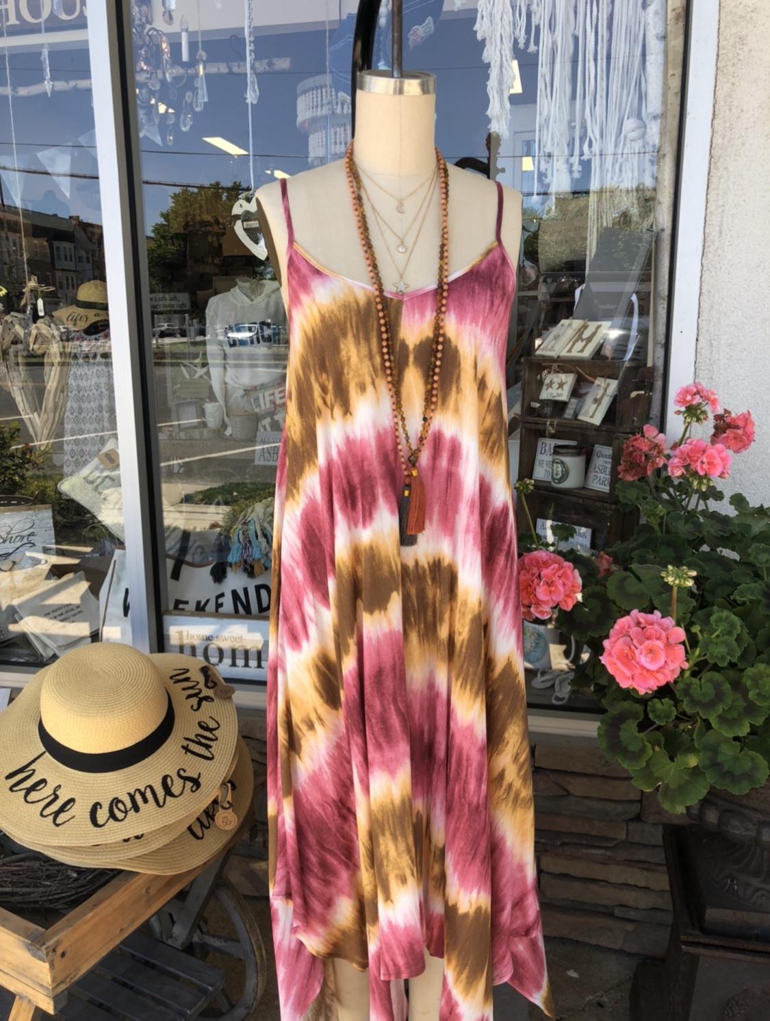 Ko- Tie Dye Fabric w/ Shark Bite Dress