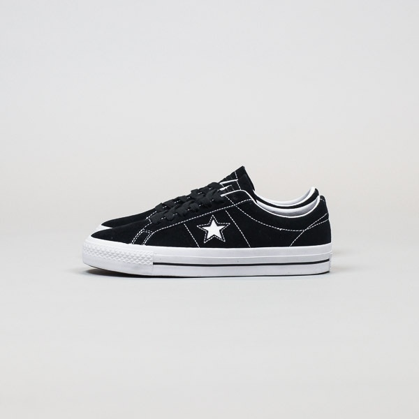 Converse Cons One Star Pro Suede Black/White
