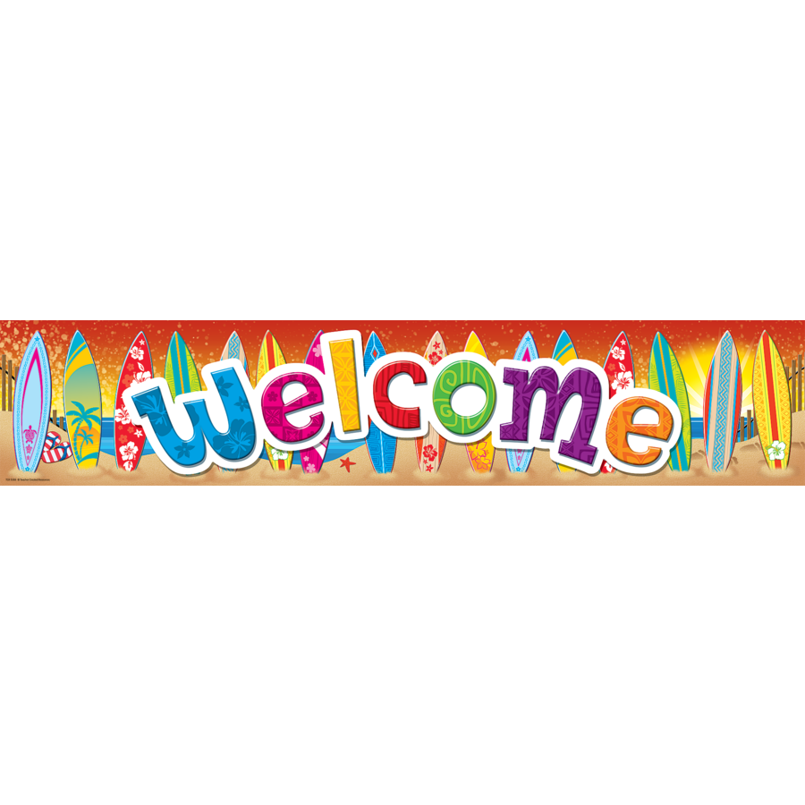 X TCR 5388 SURFS UP WELCOME BANNER