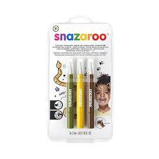 SNAZAROO PENS BROWN / YELLOW / GREEN