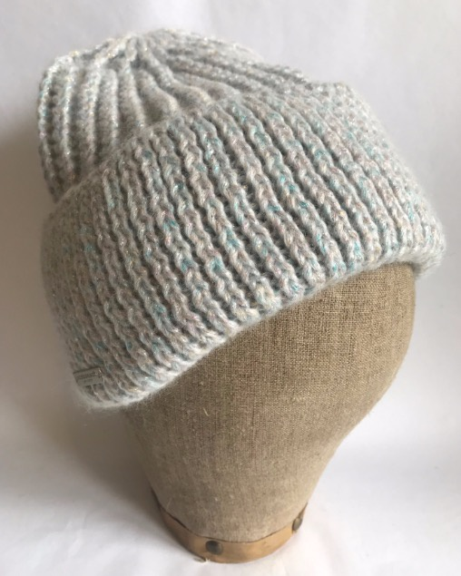 Seeberger Soft Toque with fancy lurex effect Off-White