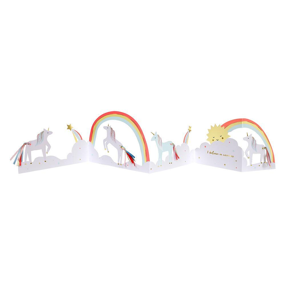 UNICORN BIRTHDAY  CONCERTINA CARD