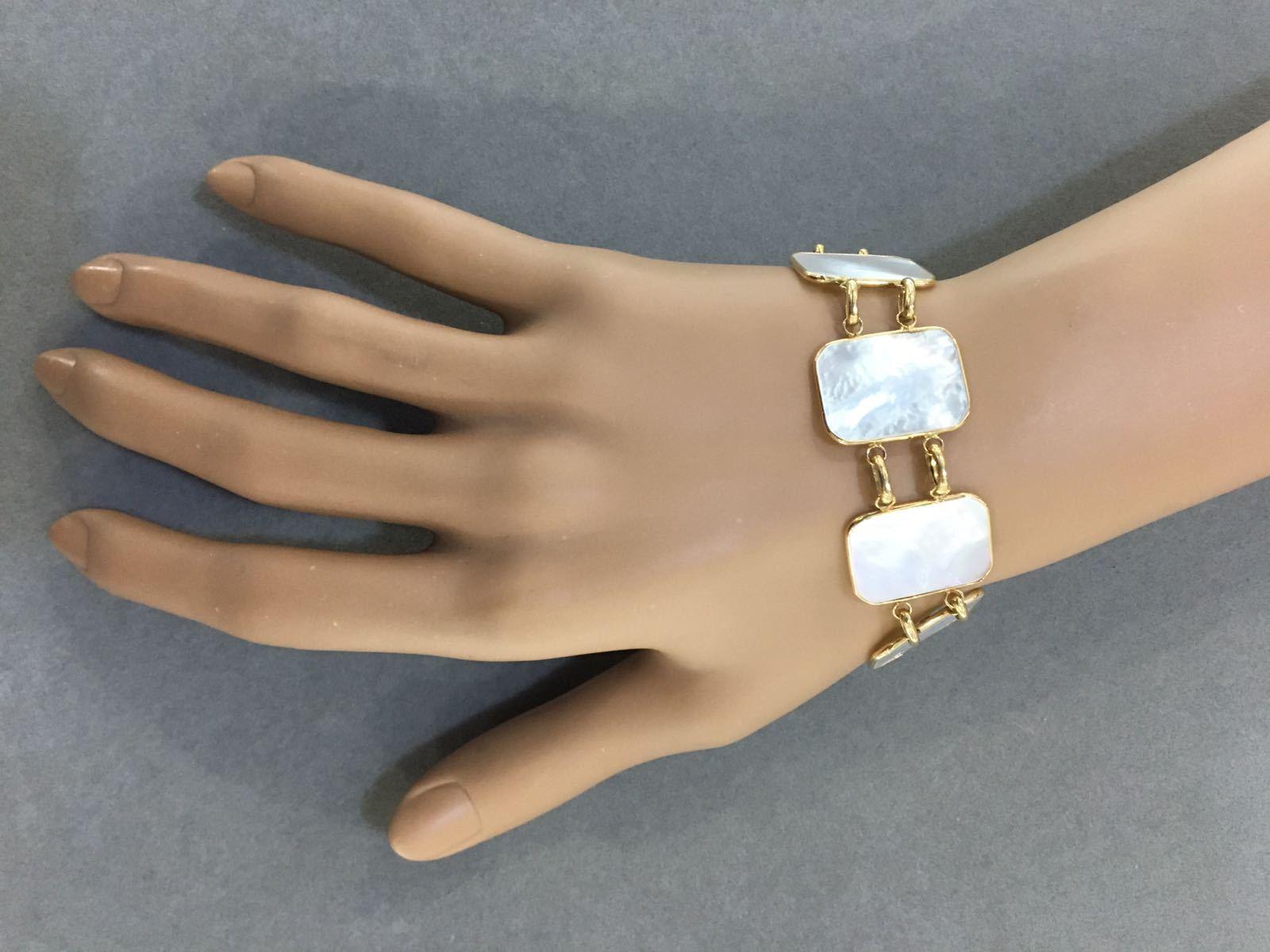 SALE! White Mother-of-Pearl Golden Bracelet