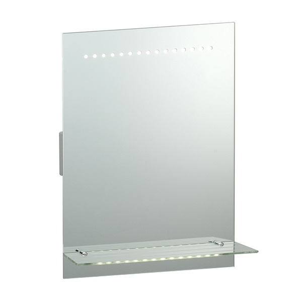 Omega shaver mirror IP44 1W SW wall - mirrored glass