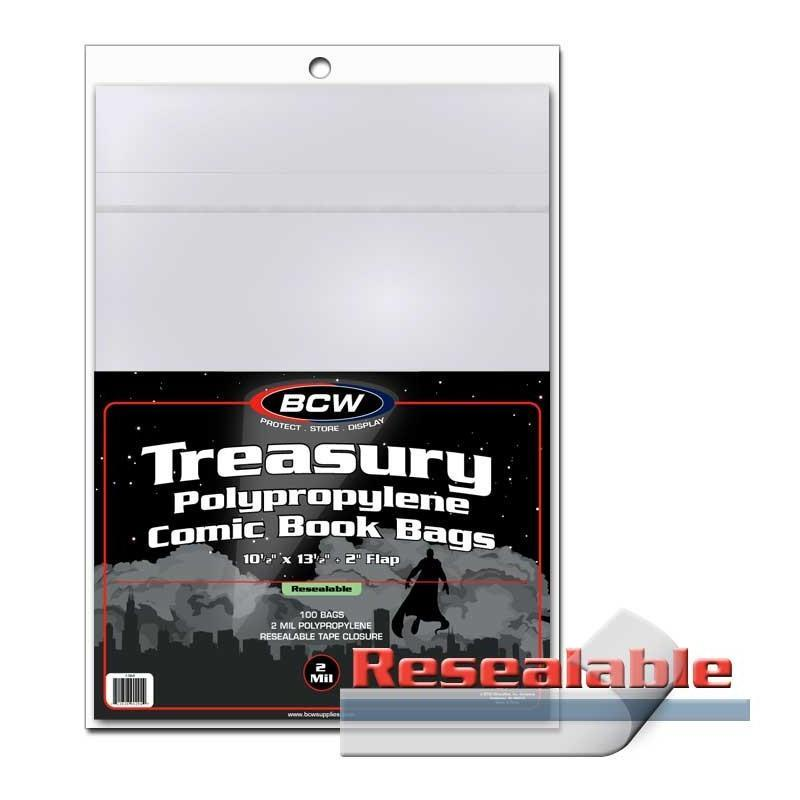 BCW Resealable Treasury Bags 100 Pack
