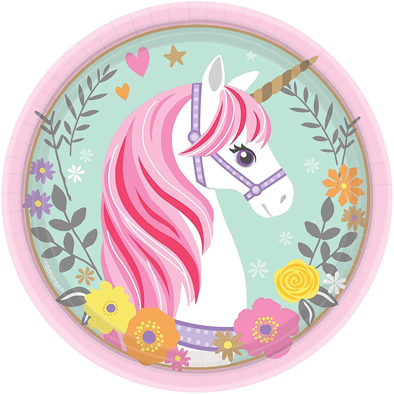 MAGICAL UNICORN 7 INCH PLATES