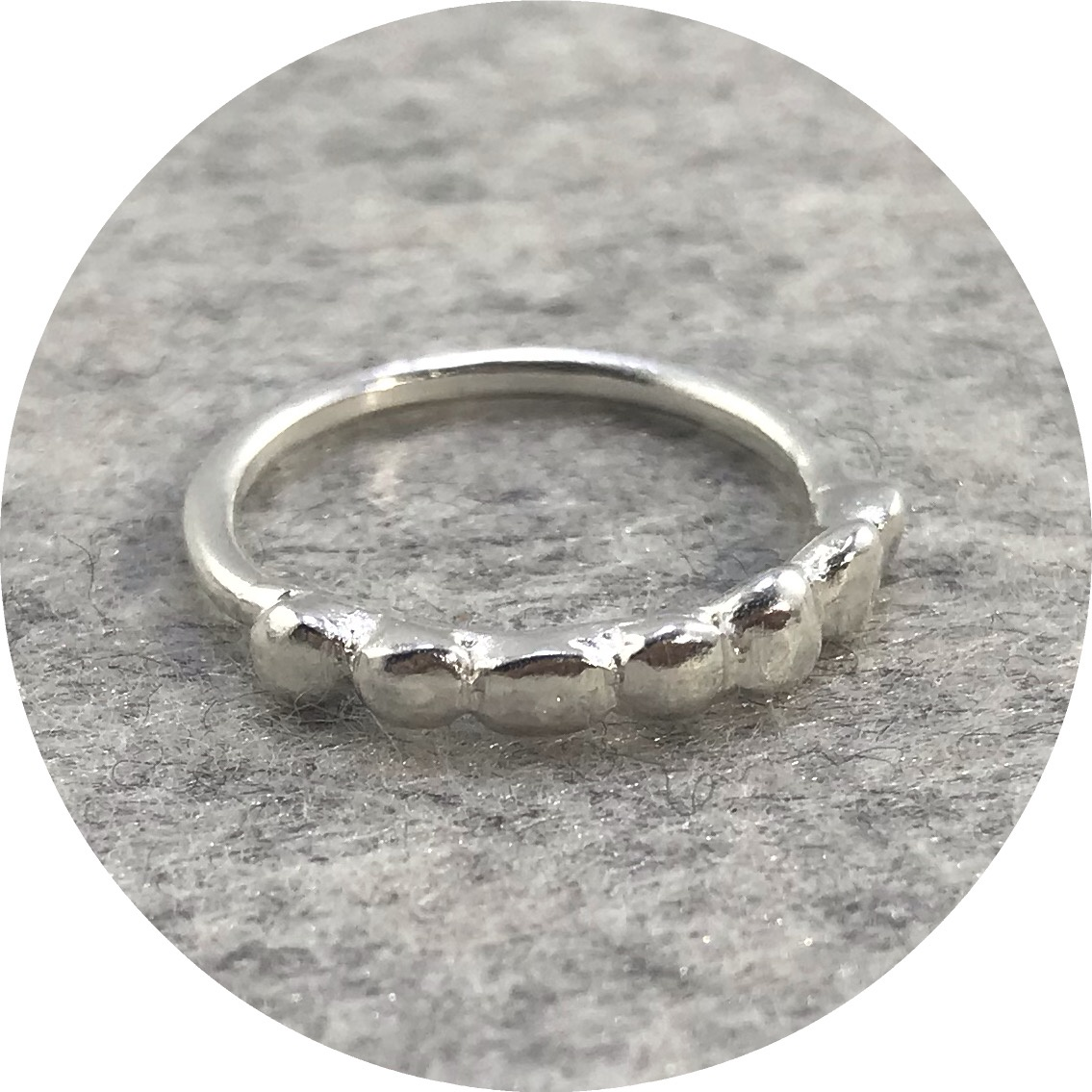 Katie Shanahan - Sterling Silver 'Stones in a Row' Ring