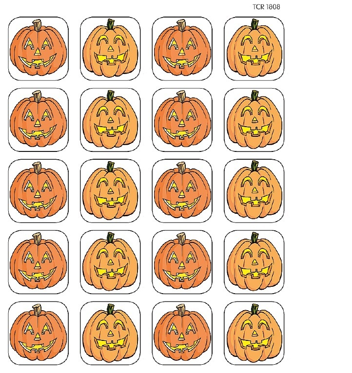 TCR 1808 PUMPKIN STICKERS