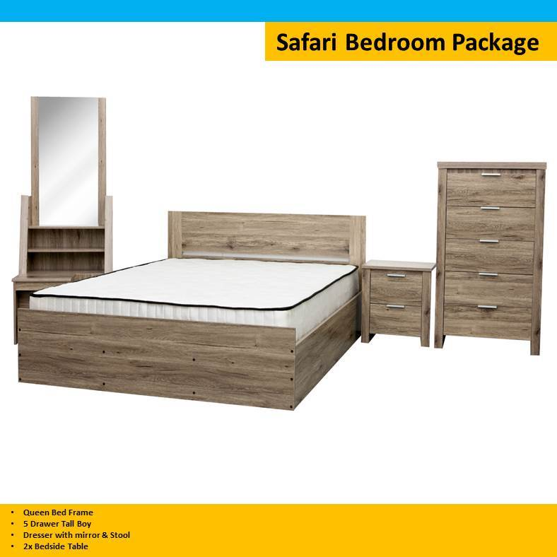 Outstanding Safari Queen Bedroom 5 Pc Set Home Interior And Landscaping Ologienasavecom