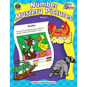 X TCR 2788 NUMBER MYSTERY PICTURES PRE-K-1