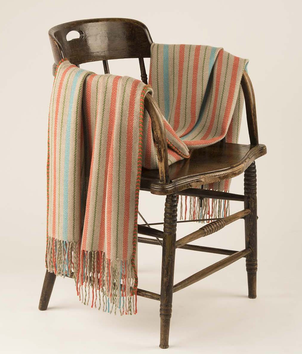 STRIPED HERRINGBONE THROW C002