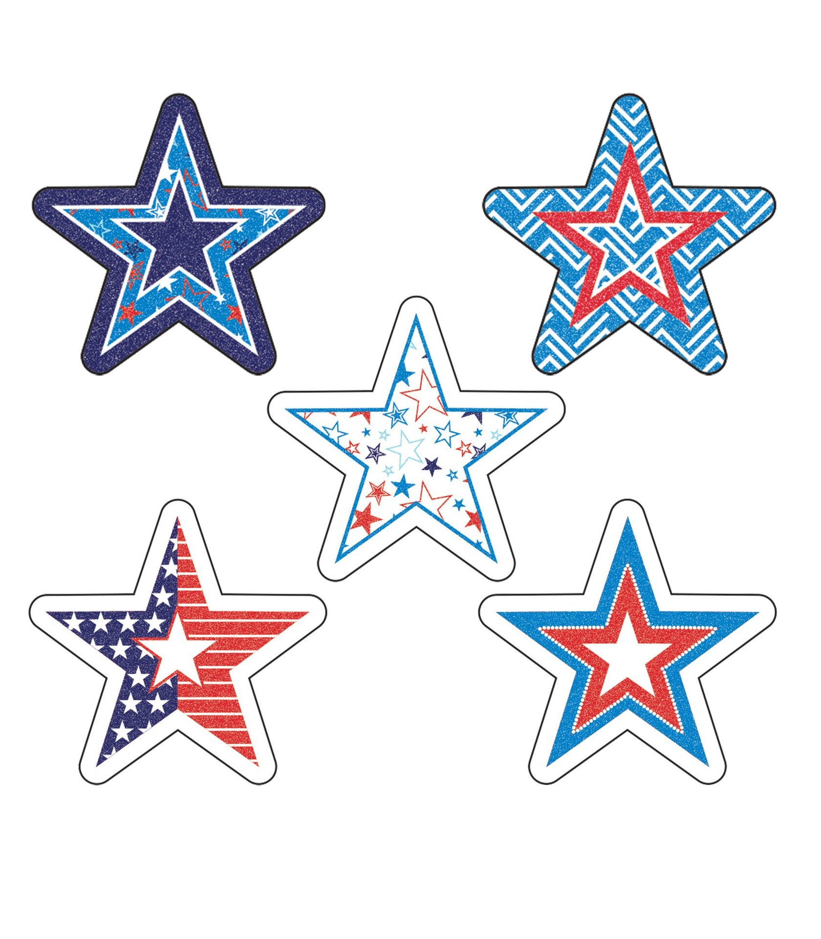 CD 168217 STAR SPANGLED STICKERS