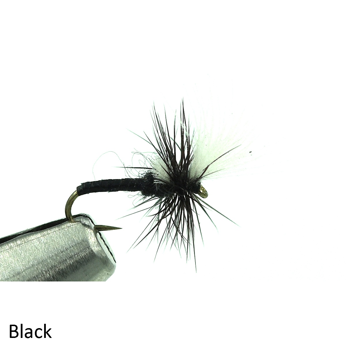 20 or 22 Fly Fishing Solitude Fly Company Hatching Midge Black Size 18