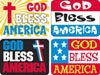 T 47705 GOD BLESS AMERICA STICKERS