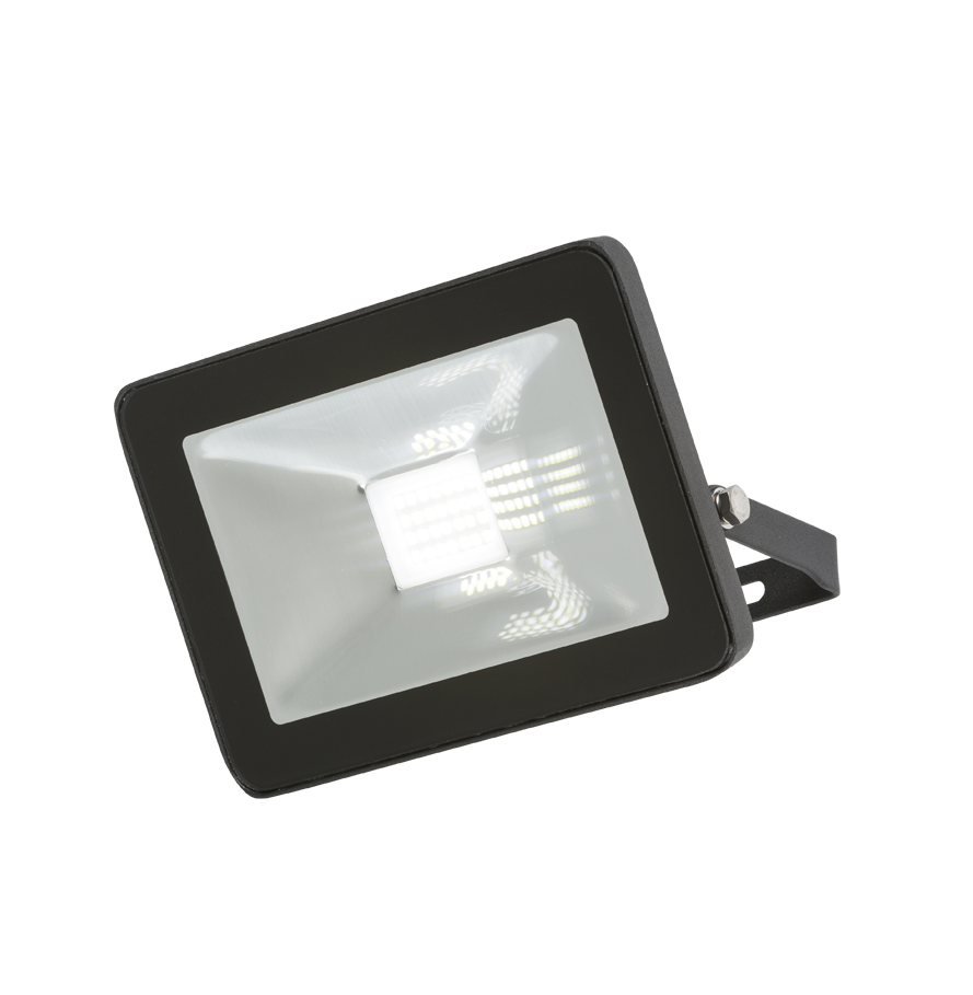 230V IP65 20W LED Black Die-Cast Aluminium Floodlight 4000K