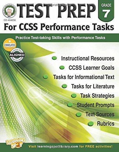 X CD 404230 TEST PREP FOR CCSS PERFORMANCE TASKS G7