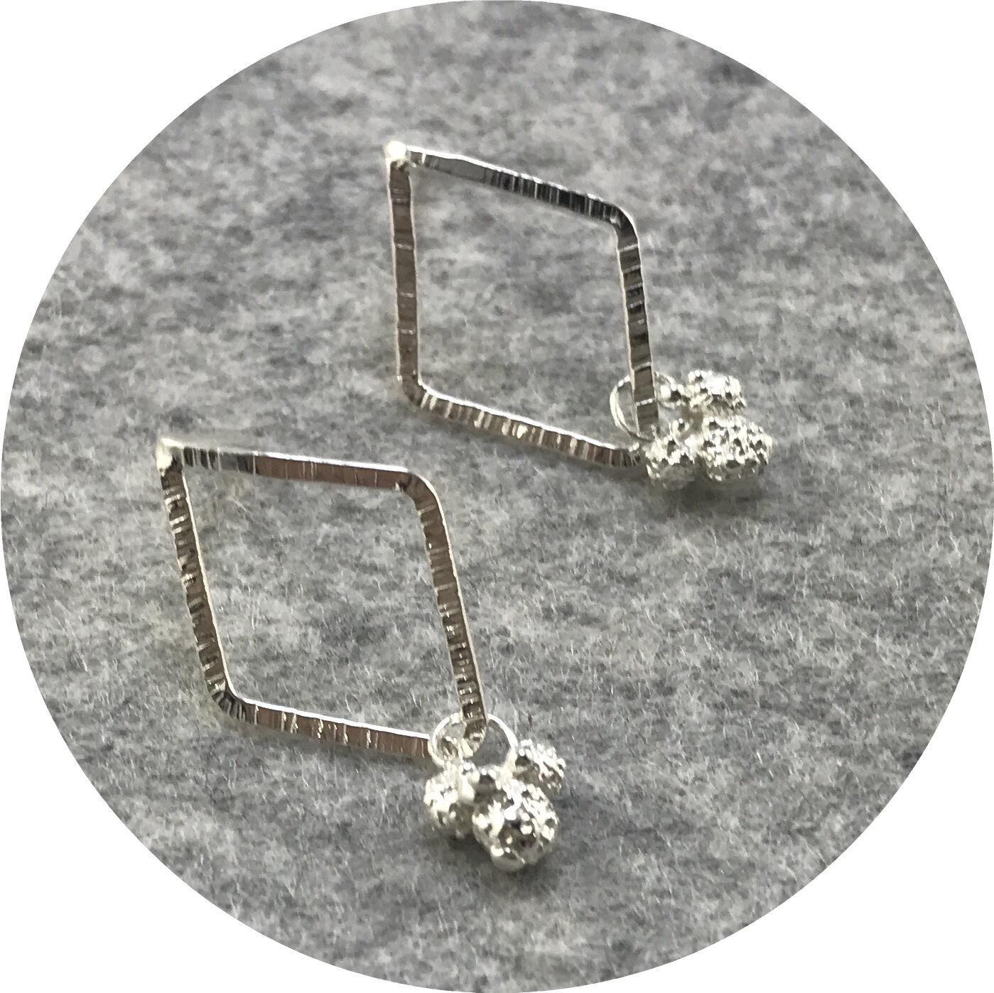 Abby Seymour - Diamond Wattle Studs in Sterling Silver