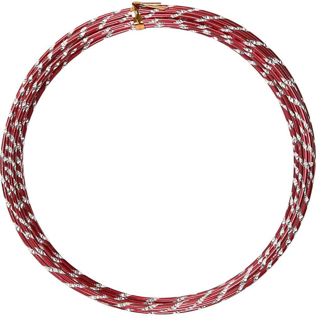 Alu Wire: Diamond Cut Red | Craft Wire & Tools | Valley Craft Ltd