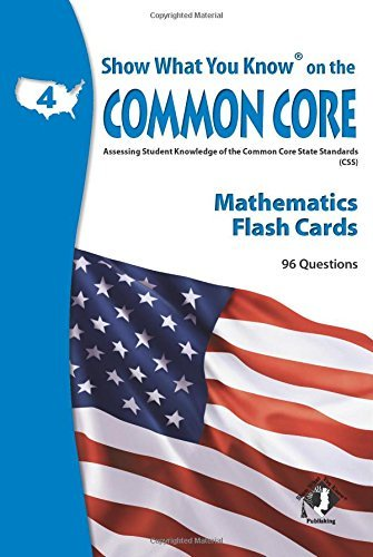 X NA 5402 SHOW WHAT YOU KNOW CC MATH FLASHCARDS 4