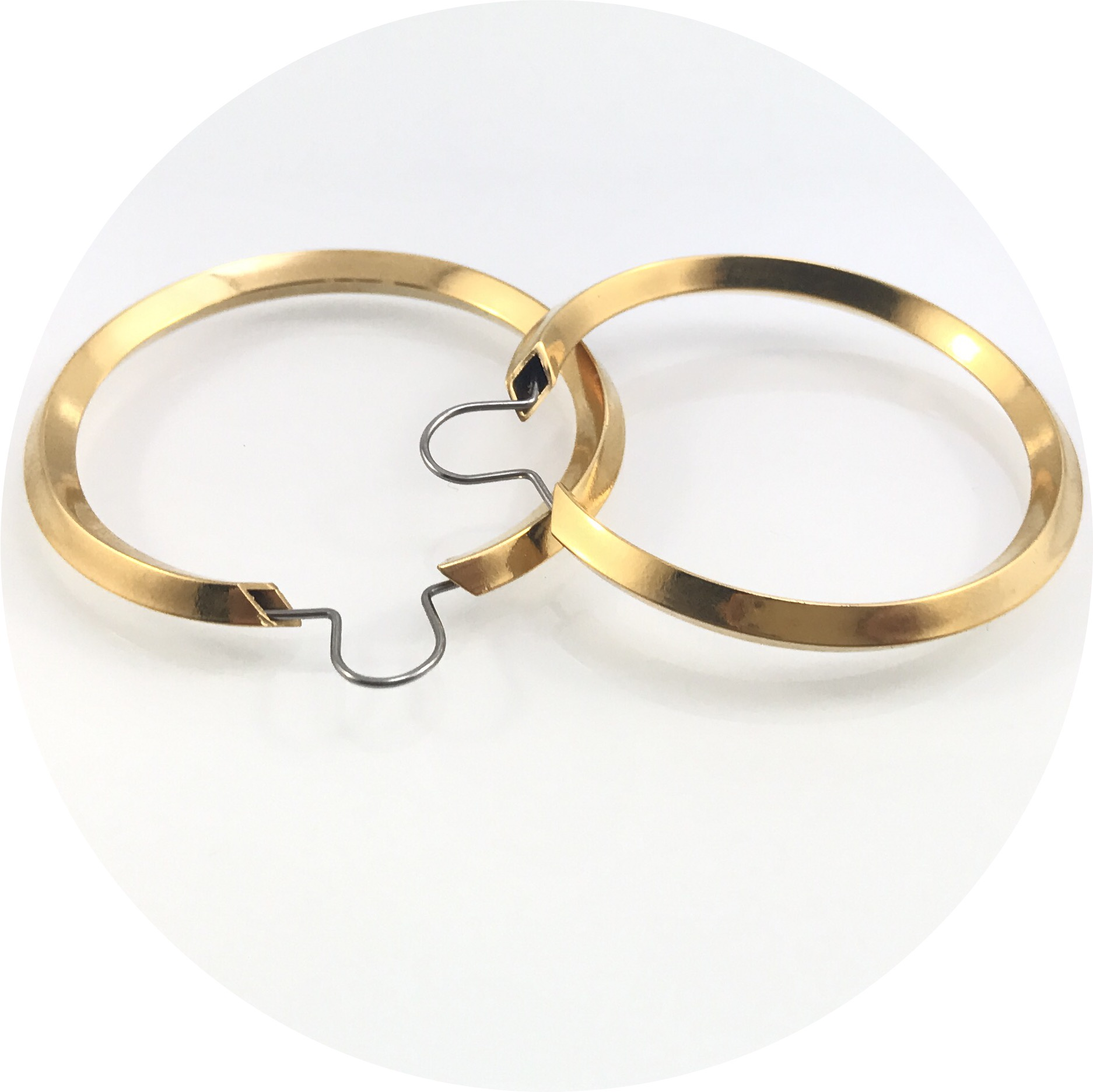 Kristina Neumann - Original Tube Gold Plated Sterling Silver Hoops