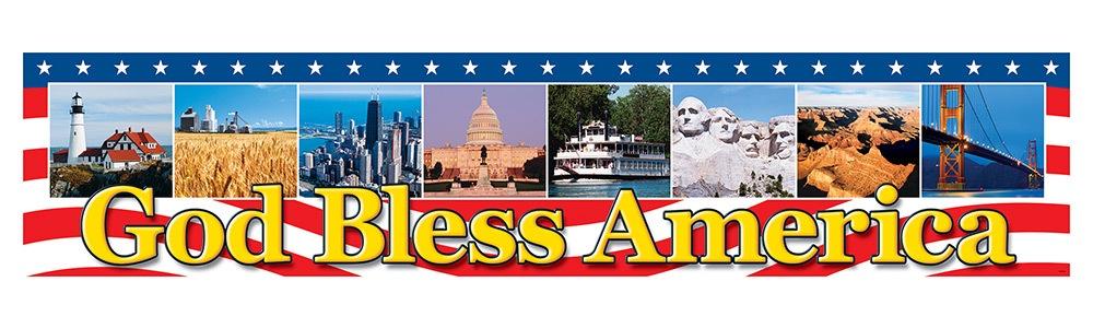 T 25713 GOD BLESS AMERICA BANNER