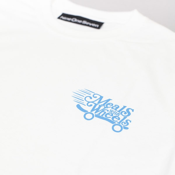 Call Me 917 Meals With Wheels Tshirt White