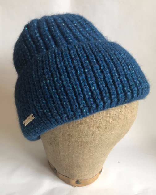 Seeberger Soft Toque with fancy lurex effect Blue