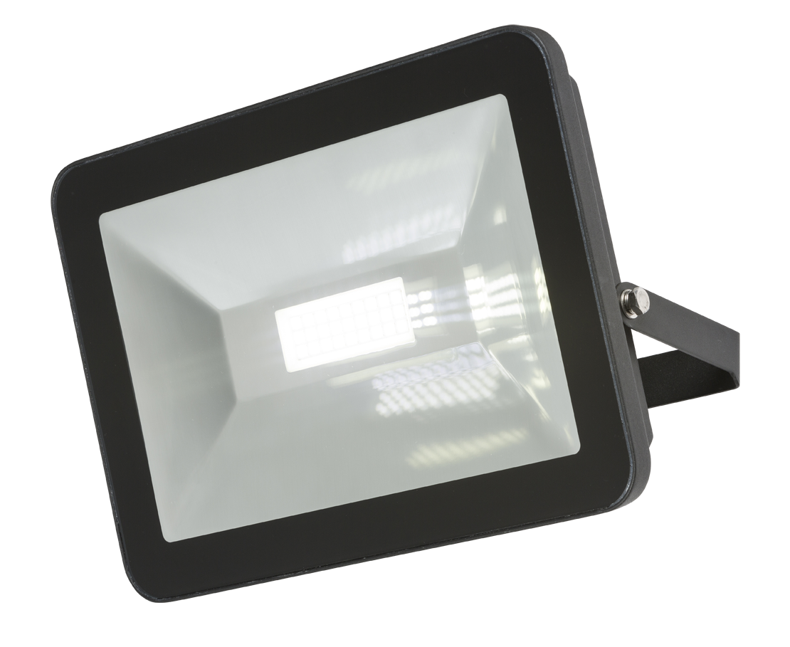 230V IP65 80W LED Black Die-Cast Aluminium Floodlight 4000K