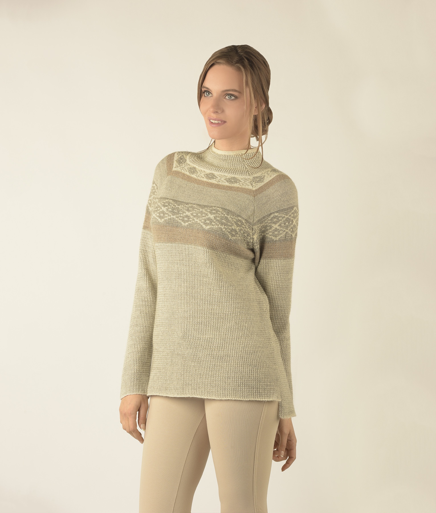 SEED STITCH TURTLE PULLOVER C001