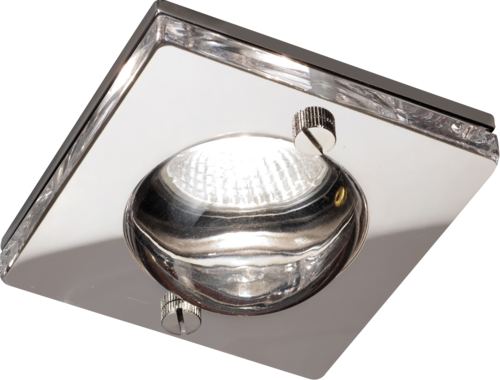 IP65 GU10 50W Square Clear Glass Downlight in Chrome