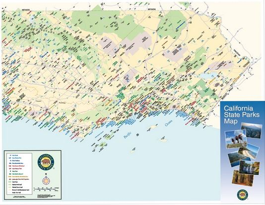 Map - Complete California State Parks | Online ParkStore California State Parks Map on