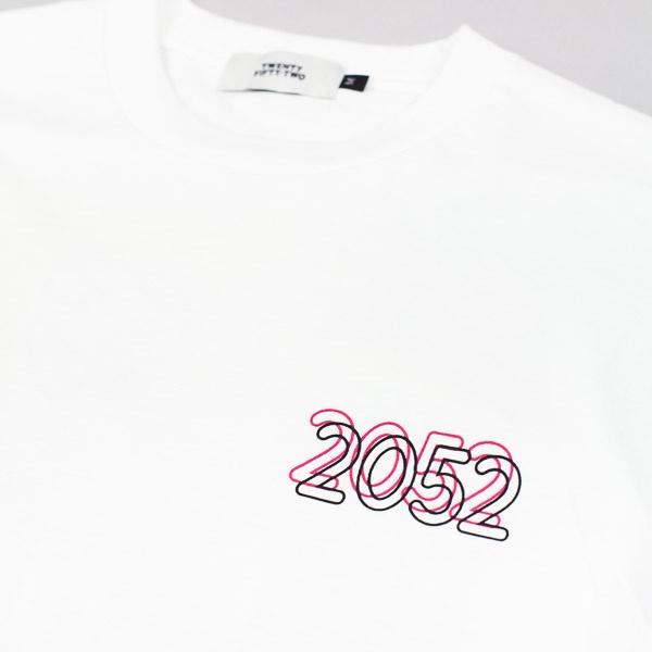 Twenty Fifty-Two Strip  Tshirt White